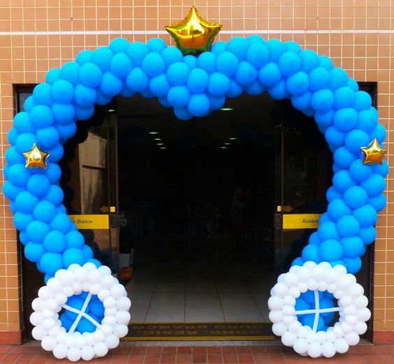 Arco de Balão Azul
