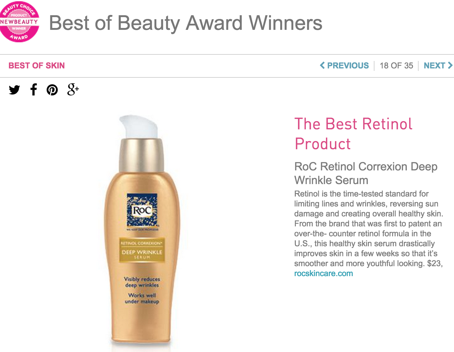 RoC Retinol Deep Wrinkle Serum