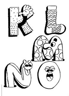 Riscos para pintura de letrinhas