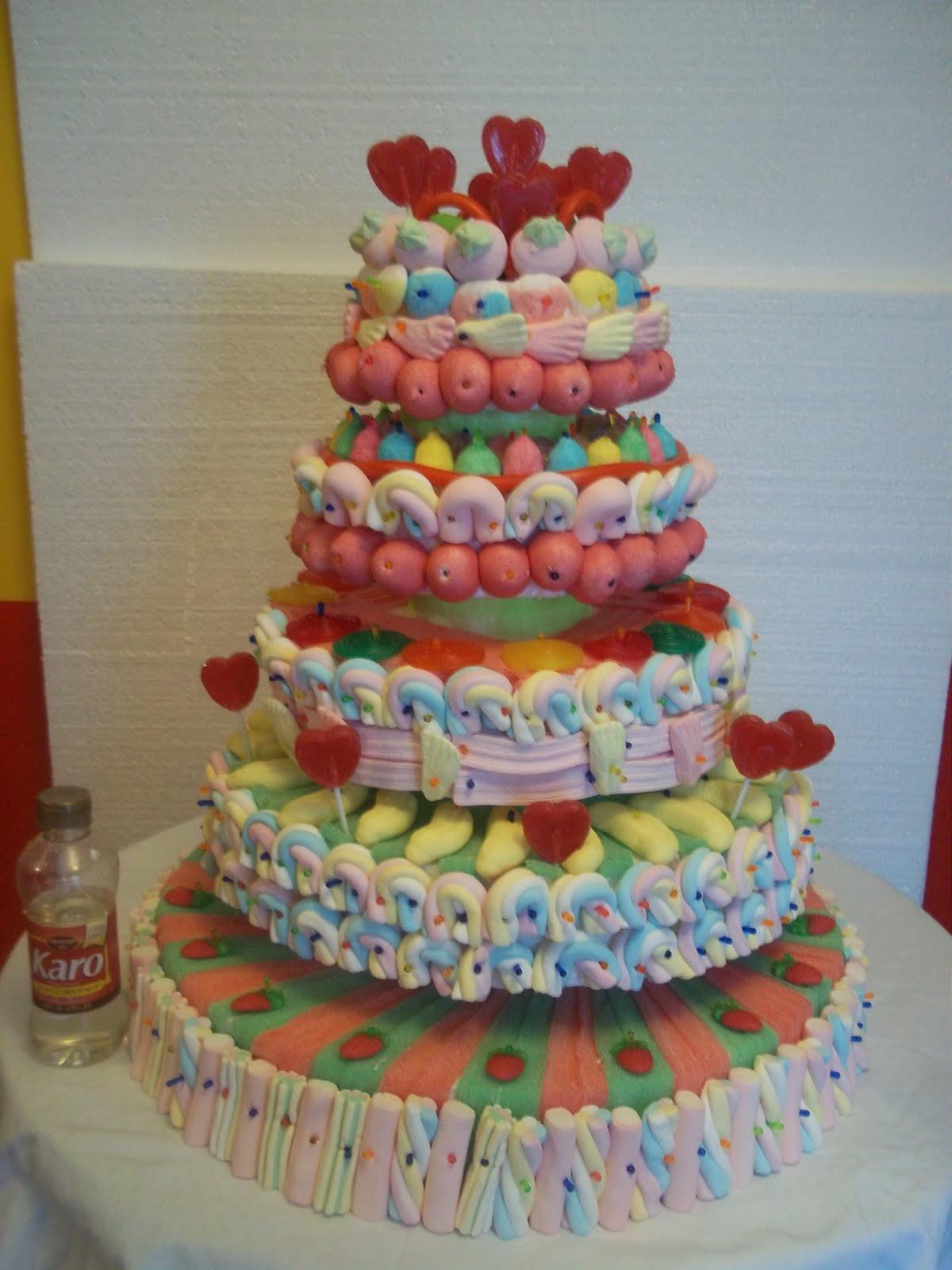 En dulce tarta de chuches grande - Tartas de chuches fotos ...