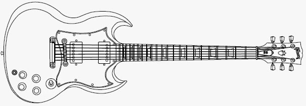 gibson 335 dc drawing