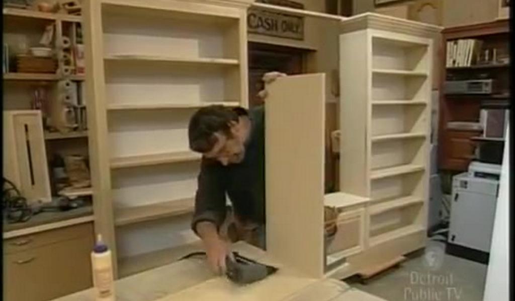 Como hacer un librero moderno de madera h galo usted - Como lacar un mueble de madera ...