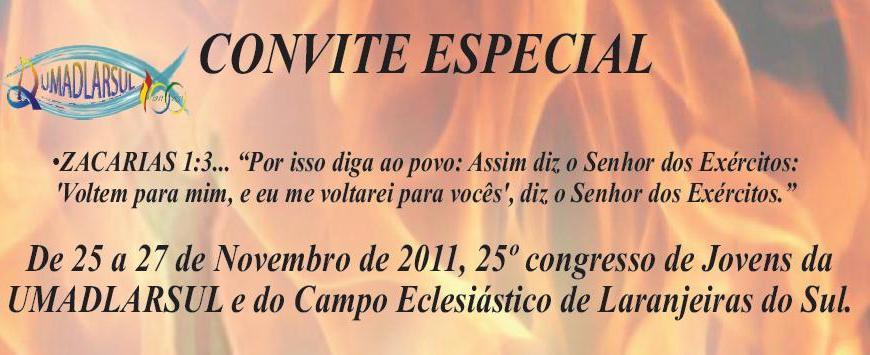 nos dias 25 a 27 de novembro na igreja evangelica assembleia de