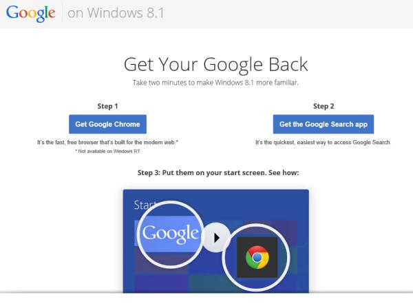 download google chrome for windows 8.1 rt