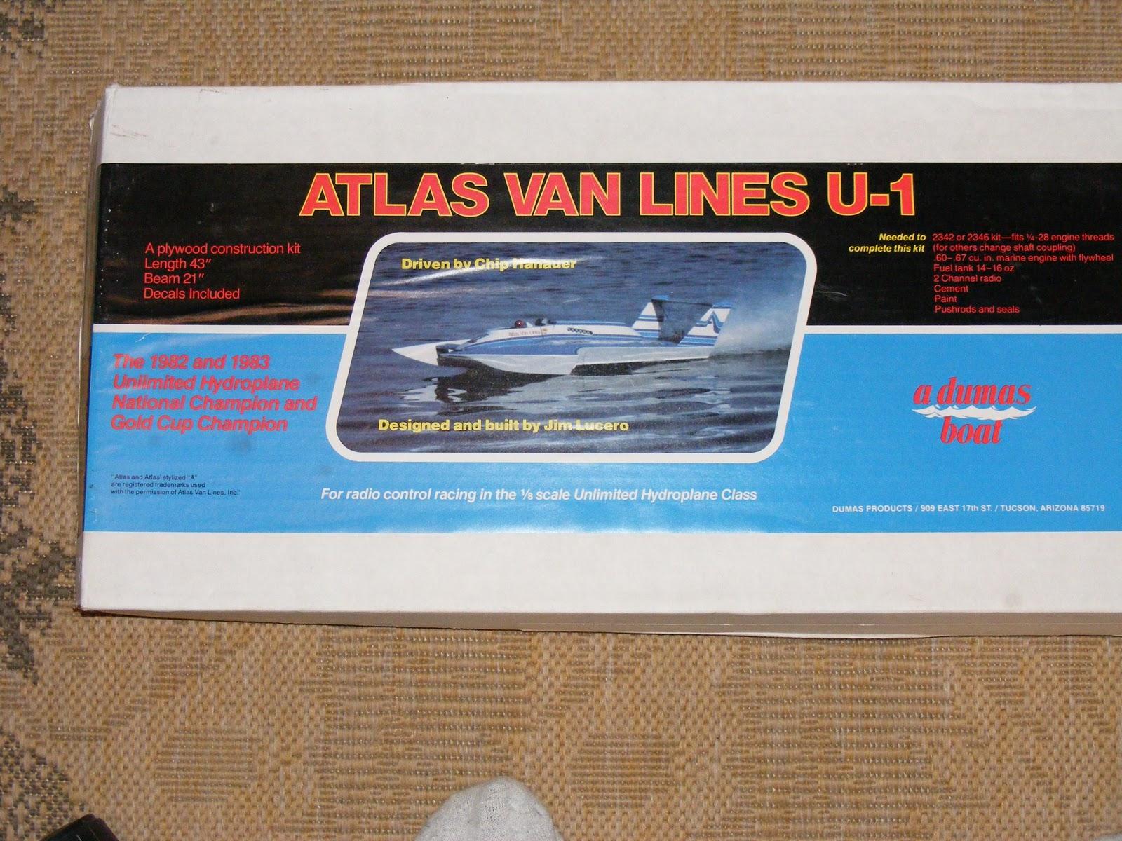 Dumas 1/8 Scale Hydroplane Boat Kit 1321 Atlas Van Lines U ...