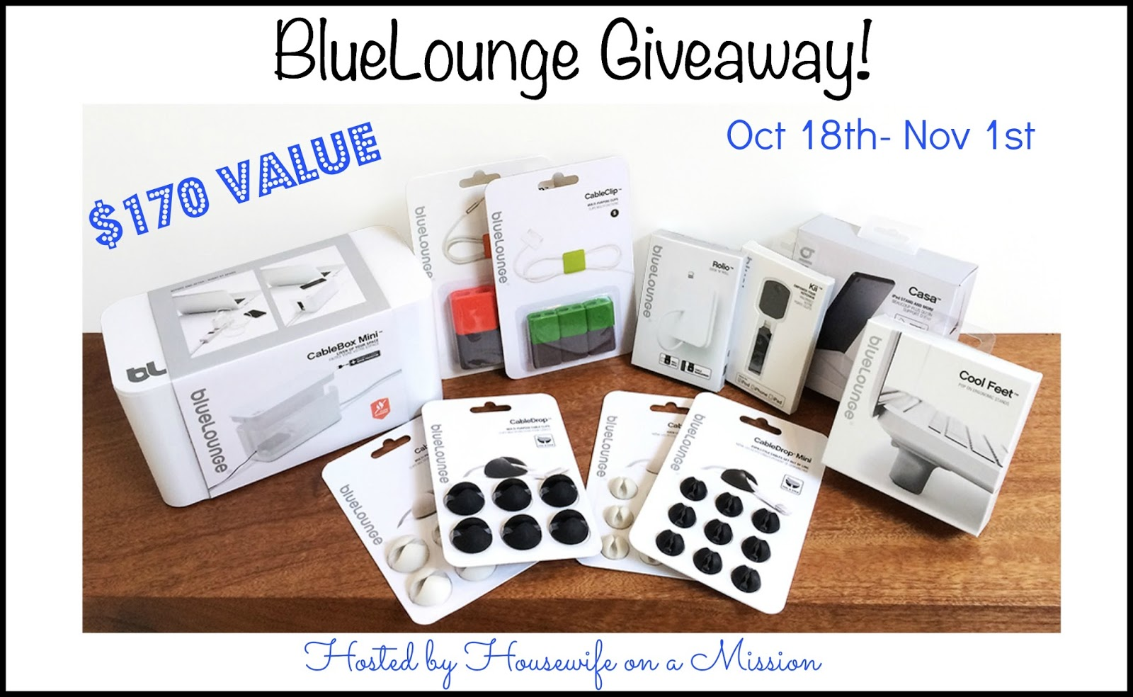 Enter the BlueLounge Giveaway. Ends 11/1.