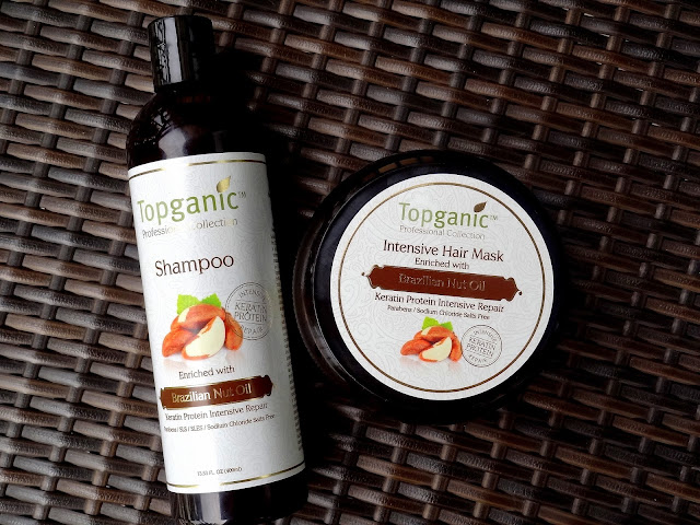 Topganic Brazilian Nut Oil Shampoo & Intensive Hair Mask