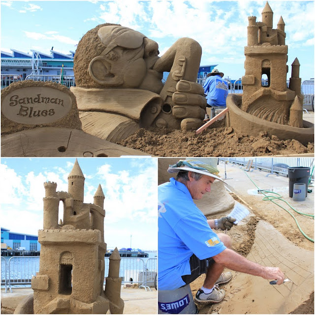 John Gowdy's sculpture at the U.S Sand Sculpting Challenge 2012 in San Diego, California, USA