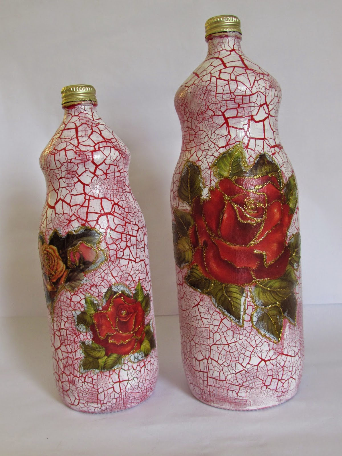 Armario Limpieza Conforama ~ Cantinho Arlearte Artesanato Garrafa de vidro craquelada e decorada