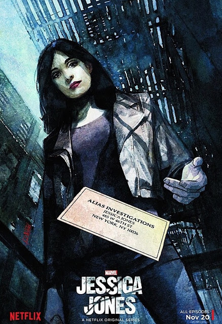 New York Comic Con 2015 Exclusive Marvel's Jessica Jones Season 1 Production Concept Art Poster by Alex Maleev & Netflix