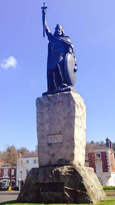 King Alfrefd's statue in Winchester