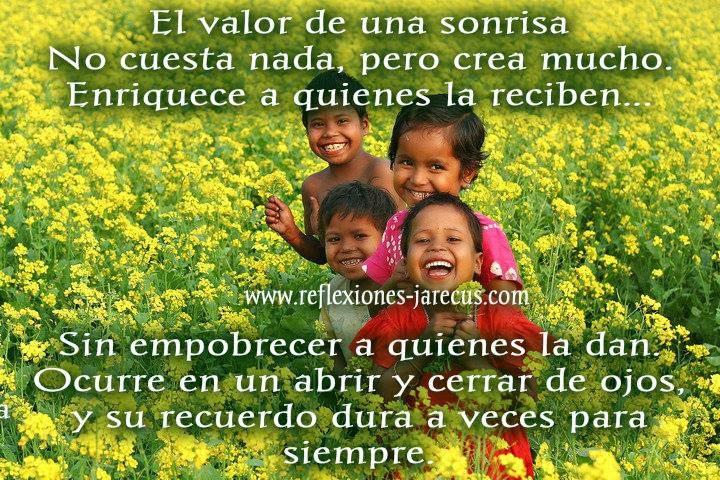 El valor de una sonrisa No cuesta nada, pero crea mucho.