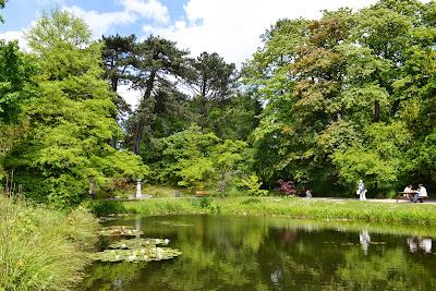 lake indside Botanical garden lund