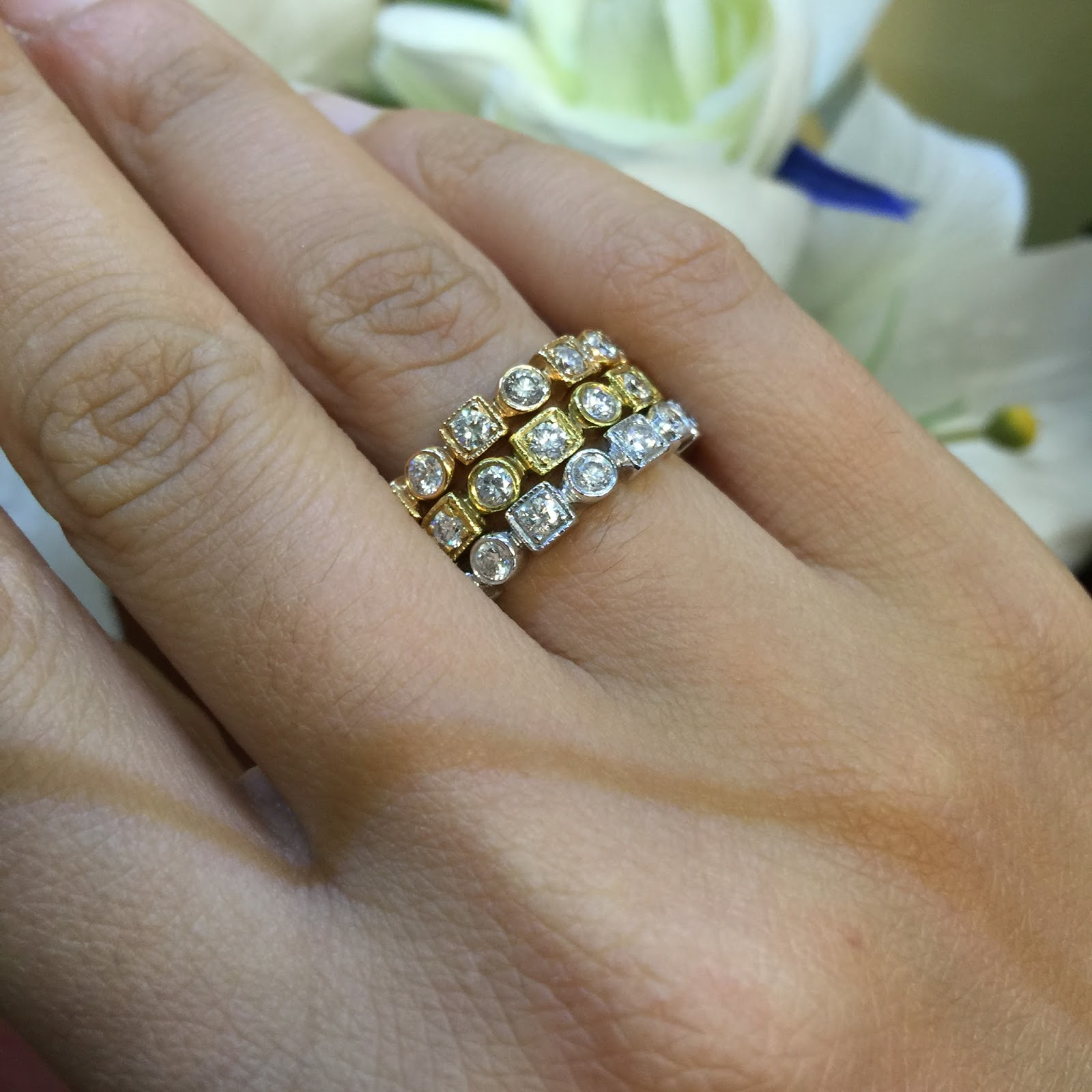 rings gold miligrain ring stackable color h clarity g of ct copy white braided diamond products wedding