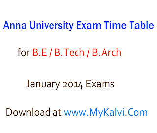 anna university,exam time table,