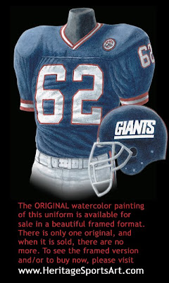 New York Giants 1986 uniform