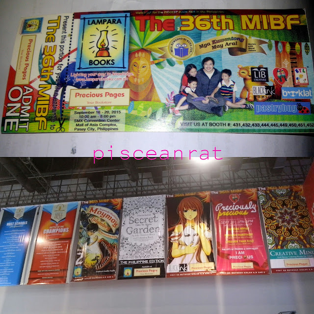 The 36th Manila International Book Fair had a run in SMX from September 16-20, 2015. I went there on Sunday, 1-5 PM for Precious Hearts Romances, held in the Stage Area.