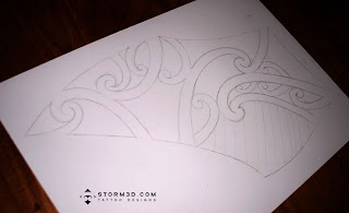maori outlines art tattoo sketch designer online