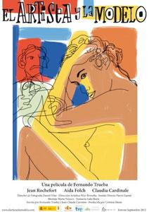 Poster original de El artista y la modelo