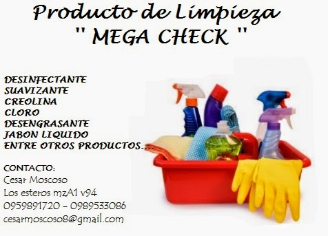 productos de limpieza mega check