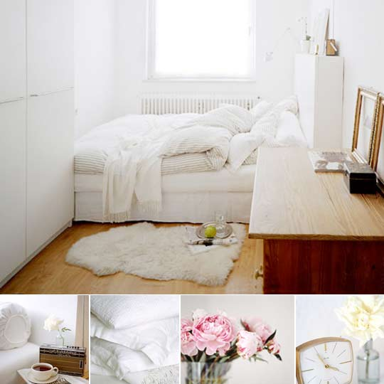 All White Bedrooms: Black And White And Loved All Over: The Happy List