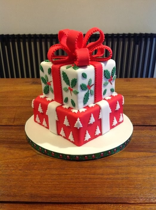 Christmas Cake Decoration Present : WONDERLAND: CHRISTMAS CAKE DECORATING IDEAS