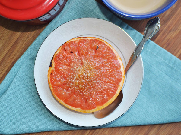 Easy Peasy Breakfast.... Ruby Red Grapefruit Brulee
