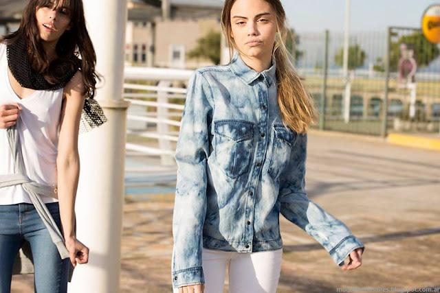 Camisas de moda 2016 denim. Kosiuko primavera verano 2016.
