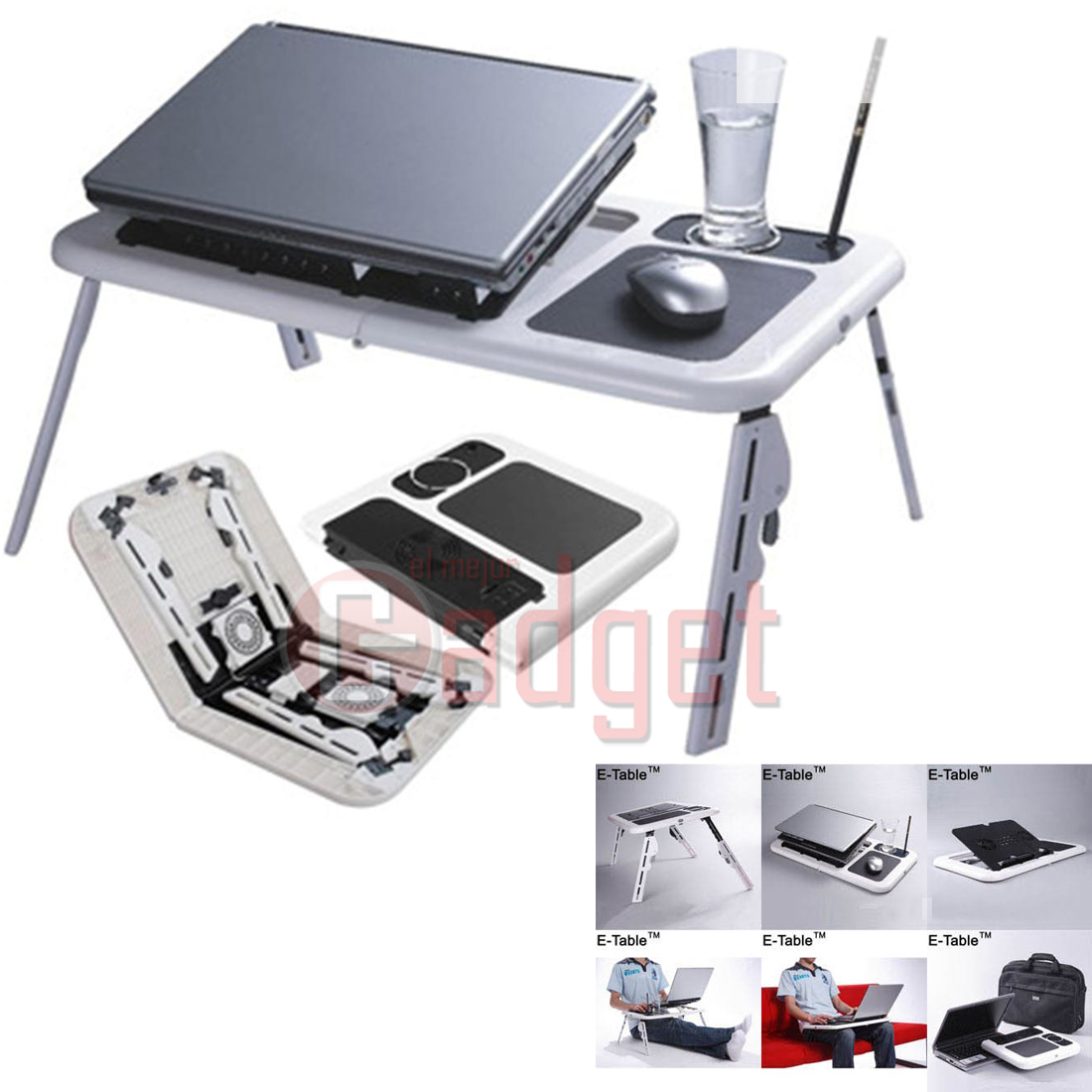E table mesa soporte refrigeraci n para ordenador port til netbook de cama sof ebay - Soporte portatil sofa ...