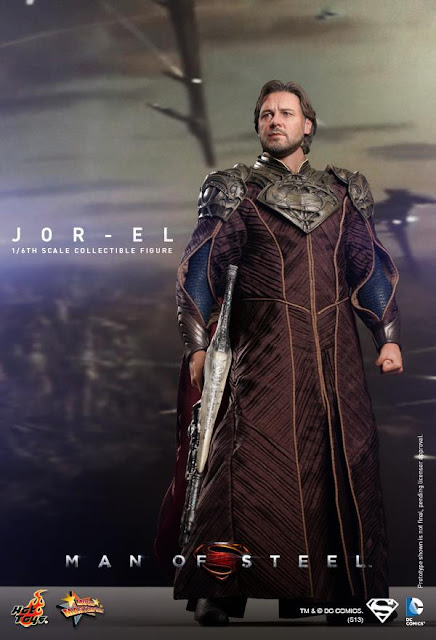 "Hot Toys 1/6 Scale Man of Steel 12"" Jor-El Figure"