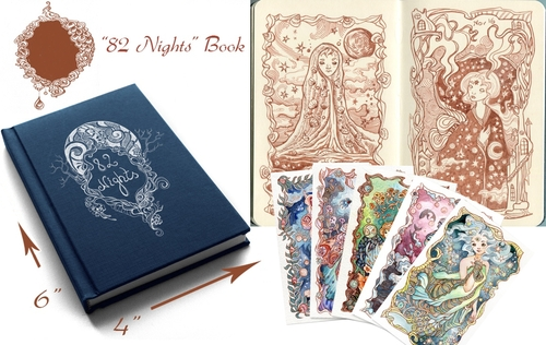 00-Ania-Mohrbacher-82 Nights-A-Fairytale-Moleskine-Drawings-Artbook
