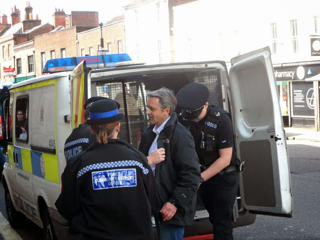 Liberty GB's Paul Weston searched by the police after his speech