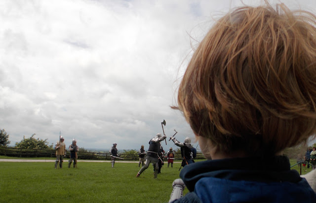 medieval battle reenactment