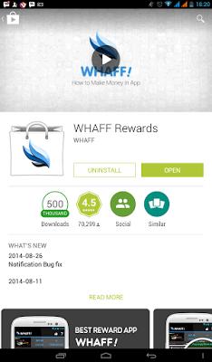 Cara Dapat Dollar dari Aplikasi Whaff Android