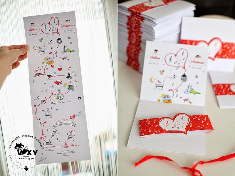 invitatie personalizata nunta, invitatii handmade, invitatii nunta handmade, invitatie harta relatiei, invitatie grafica personalizata