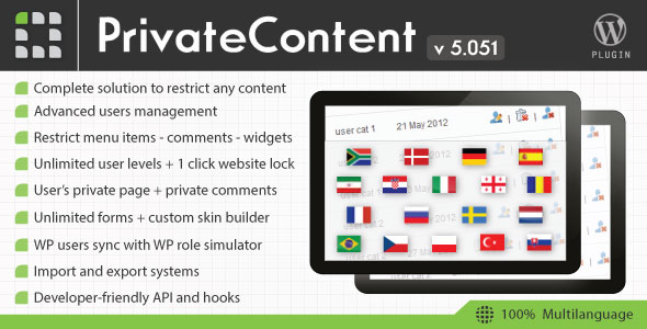 Free Download latest version of PrivateContent V5.051 - Multilevel Content Wordpress Plugin