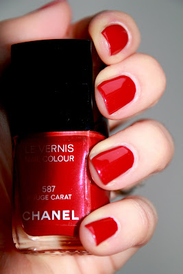 587 Rouge Carat Chanel noel 2011 swatch test avis id=