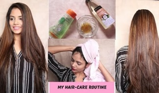 My Hair-Care Routine | How to tame frizzy hair Naturally + Tips