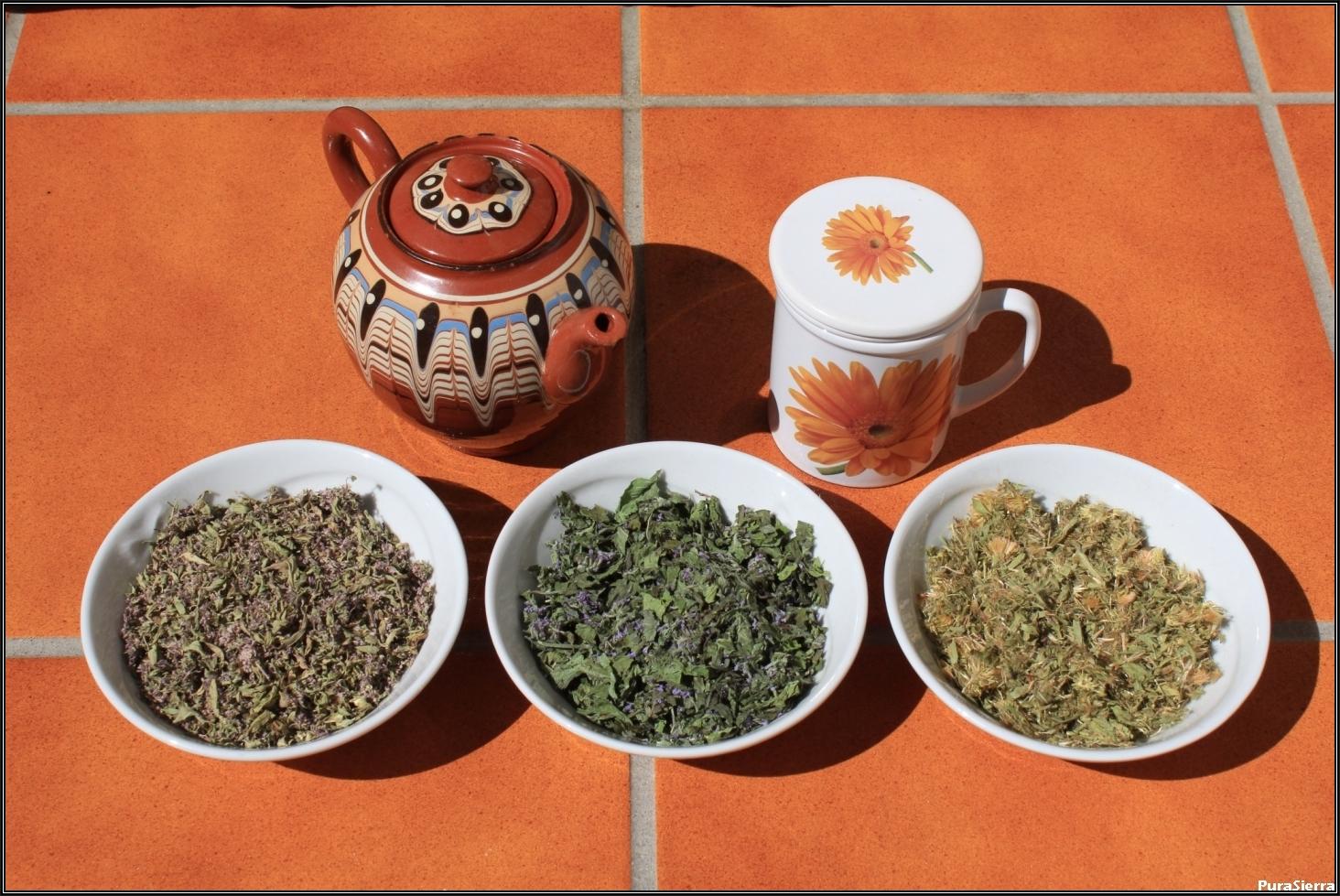 Los tres tés serranos