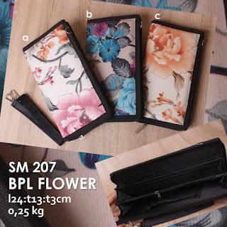 Jual Online Dompet Wanita Motif Bunga Cantik Murah Meriah di Bandung - BPL Flower SM 207
