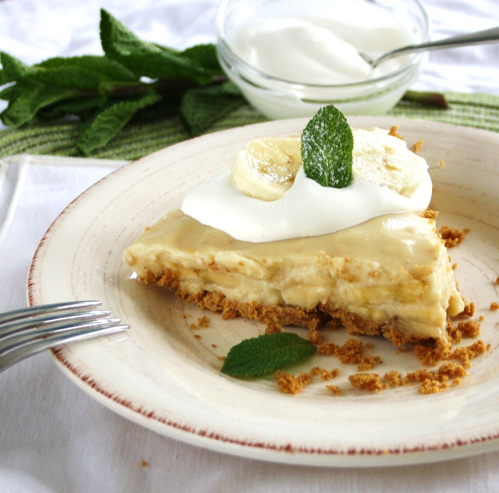Vanilla Infused Banana Cream Pie with a Whole Grain Graham ...