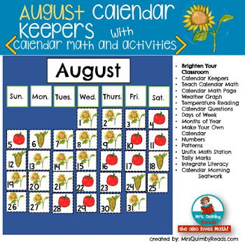 Calendar Keepers for August