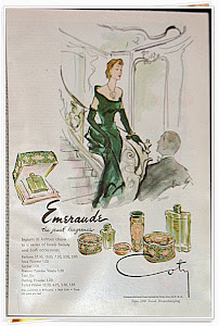 Emeraude Perfume Vintage Magazine Ad from 1947 Good Housekeeping