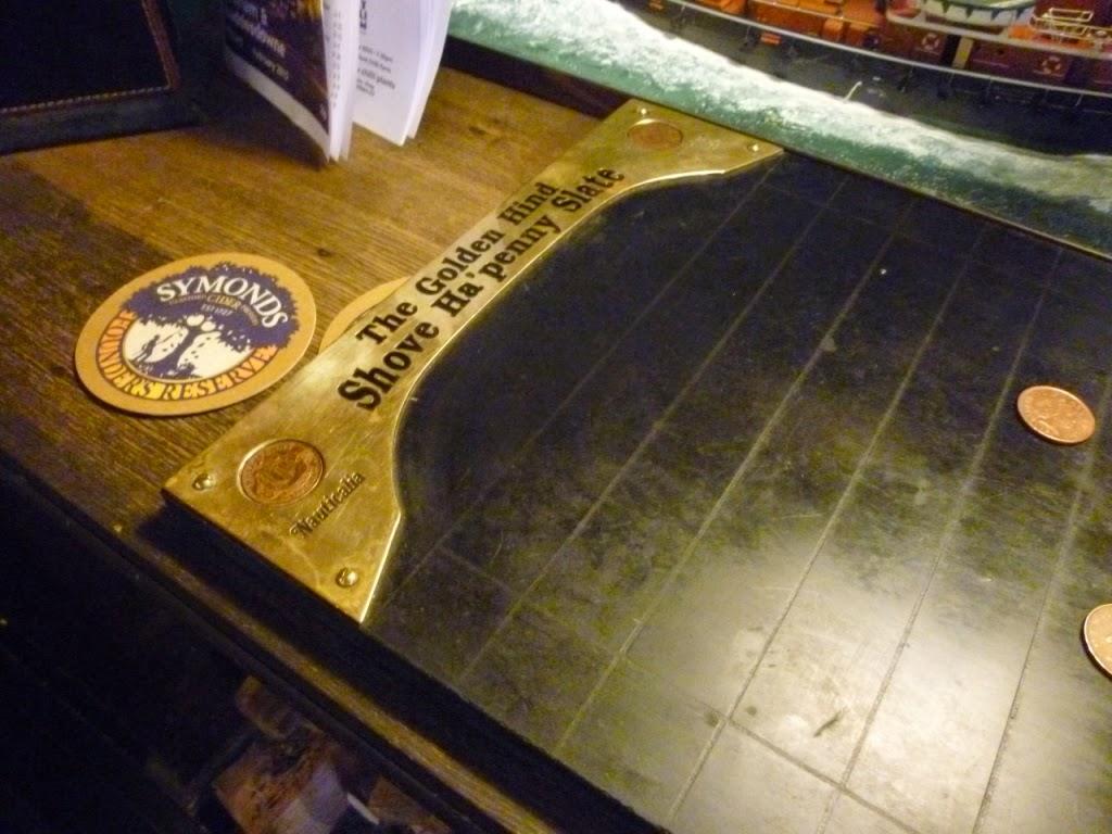 Shove Ha'penny at The Cock Inn, Luddesdowne, Kent