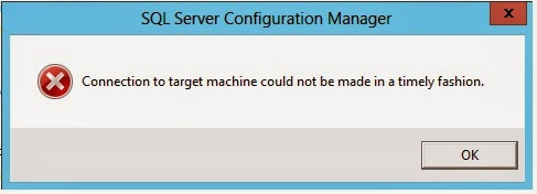 machine not connecting to