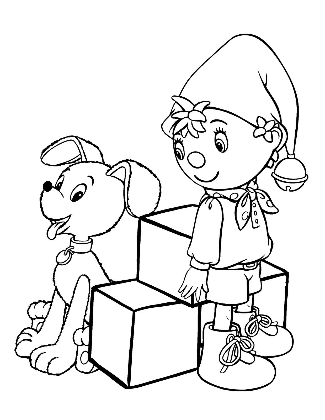 Desenho de Noddy no carro para colorir Desenhos para
