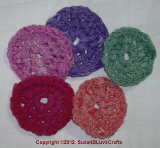 crocheted net scrubbies