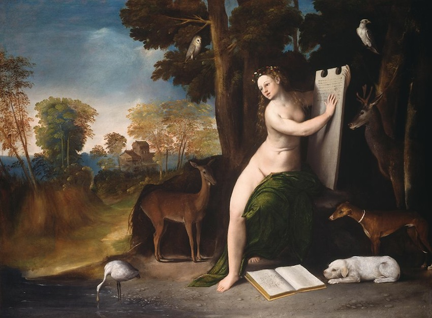 Dosso Dossi. Circe and her Lovers in a Landscape. 1514-16