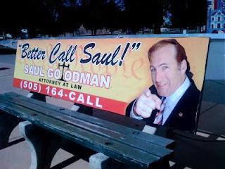 Bad Marketing on Park Bench - Breaking Bad