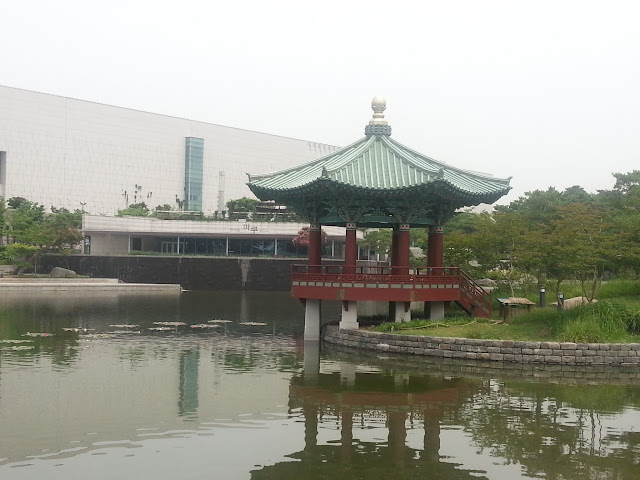 Reflection Pond at the National Museum of Korea